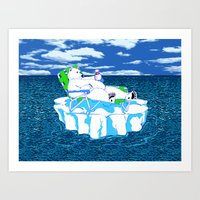 More Ice Please Art Print