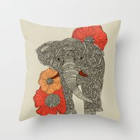 The Elephant Throw Pillow