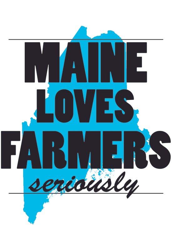 Maine loves farmers, seriously. Art Print