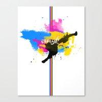 cmyksplat Canvas Print