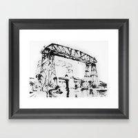 Puente En La Boca Framed Art Print