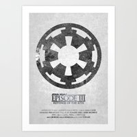 Star Wars - Revenge of the Sith (with Background) Art Print