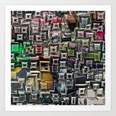 Geometric Automotive Abstract Art Print