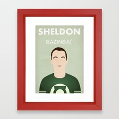 The Big Bang Theory - Sheldon Framed Art Print