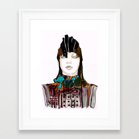 Warrior fashion portrait Framed Art Print