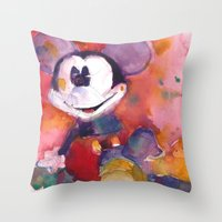 Mickey Mouse Blues Throw Pillow