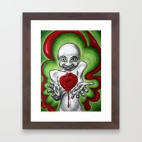 HeartAttack Framed Art Print