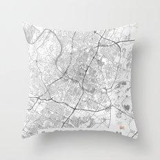 Austin Map Line Throw Pillow