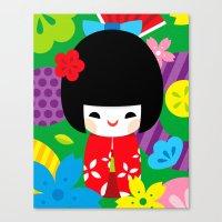 Kokeshi Canvas Print