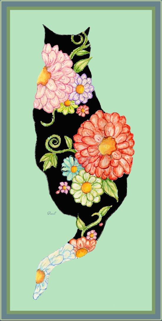 Elegant Kitty Silhouettes Art Print