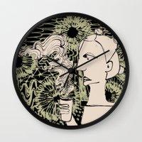 Cafe Drawing Wall Clock
