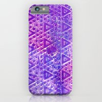 Purple Pyramiding iPhone 6 Slim Case