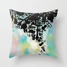 Color of Music Throw Pillow