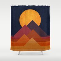Full moon and pyramid Shower Curtain