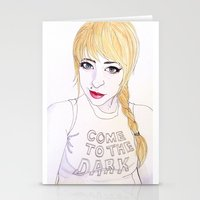 COME TO THE DARK SIDE Stationery Cards