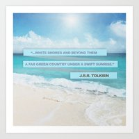 White Shores Art Print