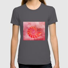 pink wash nautilus Womens Fitted Tee Asphalt SMALL