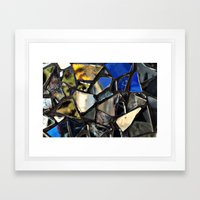 Closeup (PHOTO) of a Glass Mosaic Framed Art Print