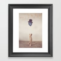 The Top Hat Framed Art Print