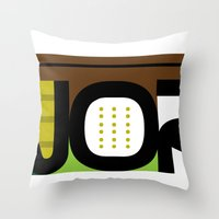 Throw Pillow featuring WORK  by David Nuh Omar