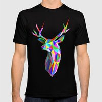 3D Stag Mens Fitted Tee Black SMALL
