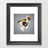 White Tiger Ranger - Red… Framed Art Print