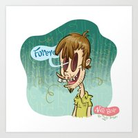 Zombie Self-Portrait: Fo… Art Print