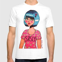 SRSLY. Mens Fitted Tee White SMALL