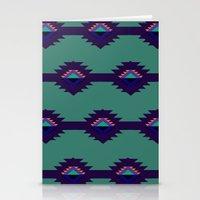 Blue Aztec Design Stationery Cards
