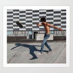 Skate boarding guy Art Print