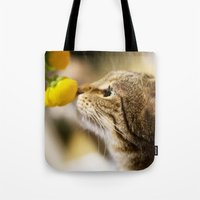 Tabby and the Flower Tote Bag