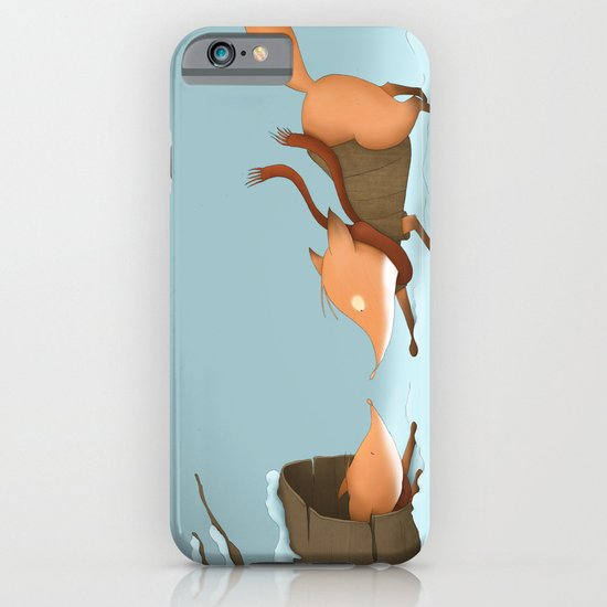 Foxes playing in the snow iPhone & iPod Case