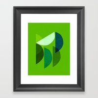 Wedges Framed Art Print