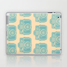 I Still Shoot Film Holga Logo - Reversed Turquoise/Tan Laptop & iPad Skin