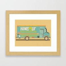 Hangout Music Fest 2014 Truck Poster Framed Art Print