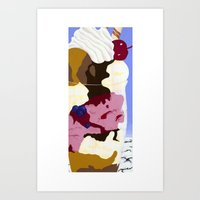 Parfait Card Art Print