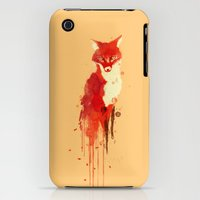 iPhone 3Gs & iPhone 3G Cases featuring The fox, the forest spirit by Budi Kwan