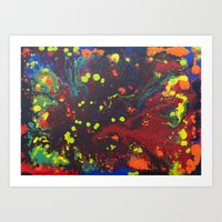 Abstract drops. Art Print