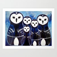Matroshka Guardians Art Print
