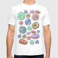 Mmm, Donuts Mens Fitted Tee White SMALL