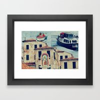 Maria, it's time to teenage riot Framed Art Print