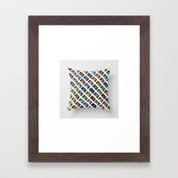 Rainbow Black 45 On Whit… Framed Art Print