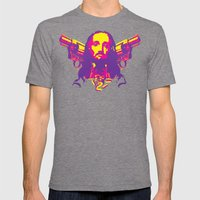 Speed Demon Mens Fitted Tee Tri-Grey SMALL