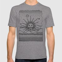 Landscape Mens Fitted Tee Tri-Grey SMALL