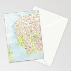 San Francisco CA City Map  Stationery Cards