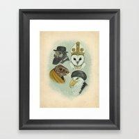 Birds of Pray Framed Art Print