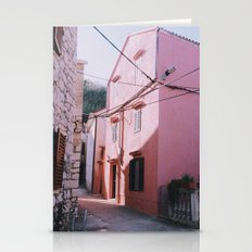 Pink house Stationery Cards