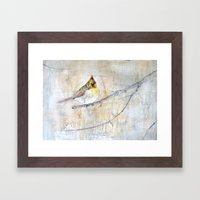 Female Northern Cardinal Framed Art Print