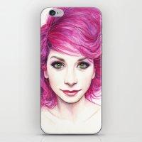 Pink Hair iPhone & iPod Skin
