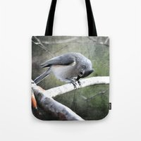 Tufted Titmouse Tote Bag